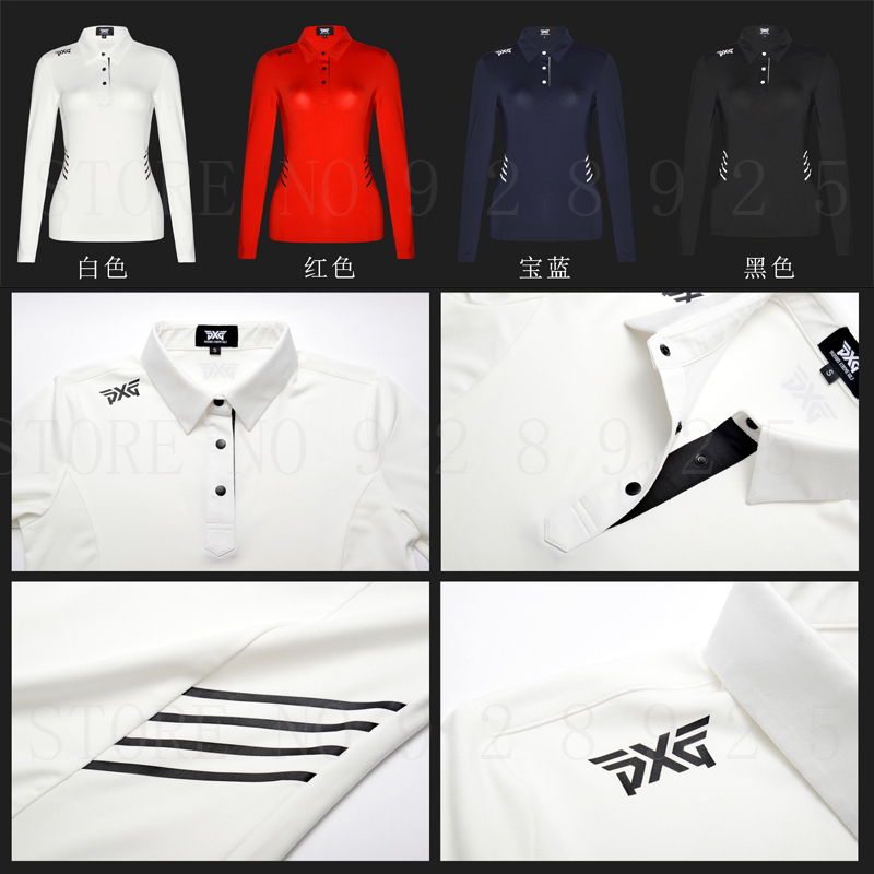 Women PXG Golf T-shirt Sportswear Autumn Long Sleeve Golf Jersey 4 colors Golf clothes S-XL in choice Leisure Brand Golf shirt 2016 new womens golf tshirts branded high quality dobby long sleeve breathable s 2xl 4 colors golf sport clothing free shipping