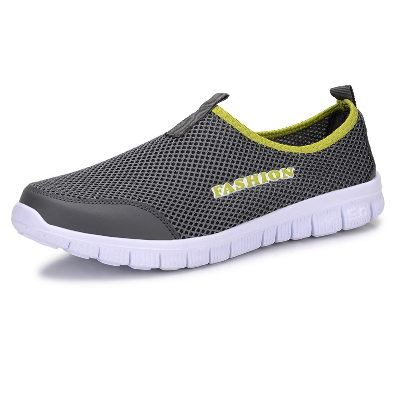 LAKESHI Fashion Loafers Sneakers Men Casual Shoes Summer Breathable Comfortable Mesh Shoes Lightweight Slip On Male Shoes male lightweight breathable mesh slip on shoes