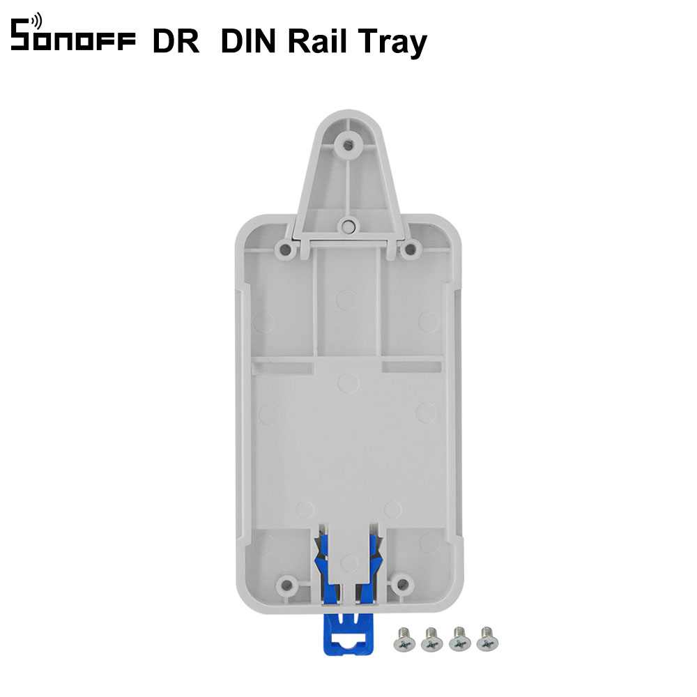 Sonoff DR DIN Rail Tray Adjustable Mounted Rail Case Holder Solution ...