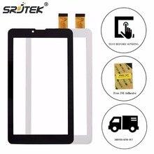 "SRJTEK Digitalizador de 7 ""Para Las Ostras T72er HT7071MG Tablet Táctil Sensores de Vidrio Panel de la Pantalla Táctil de Piezas de Repuesto Negro Blanco"