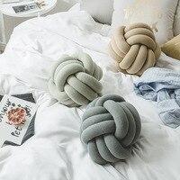 FLCSoft Decorative Throw Knot Pillow Ball Pillow Cushion Sofa Lumbar Pillow Chair Back Cushion 40
