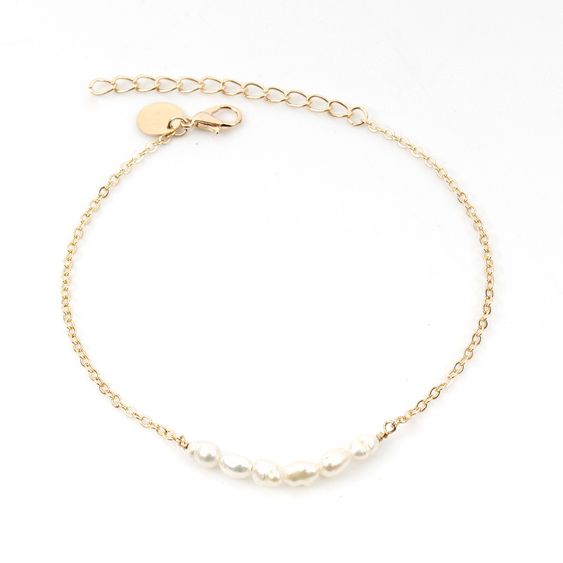 Fashion Simple Beach Foot Chain Anklets Bohemian Summer Pearl Adjustable Anklet Bracelet for Women Accessories