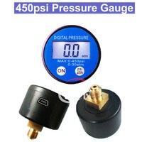 SP 450psi Battery Digital Vacuum Pressure Gauge Manometer G1/8 thread Manometer RS232 USB Port