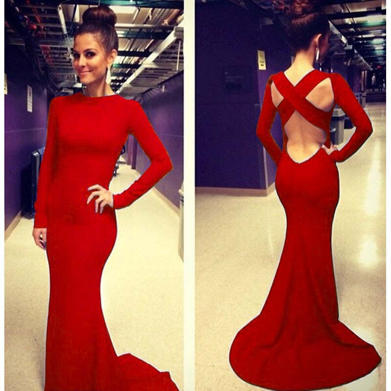bbe4ab70f770 Autumn Casual Maxi Dress Women Hollow Out Sexy Club Bodycon Dress Prom  Party Gown Fashion Evening dovetail Bandage Long Vestidos