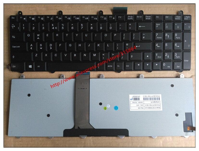 US Neue laptop-tastatur für Clevo P157sm P177sm V132150bk3 6-80-p17s0-010-3 Englisch schwarz