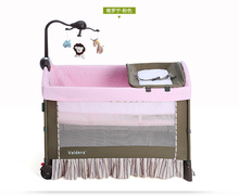 Baby Cribs Valdera baby game bed Foldable multifunctional newborn beds variable table BB crib