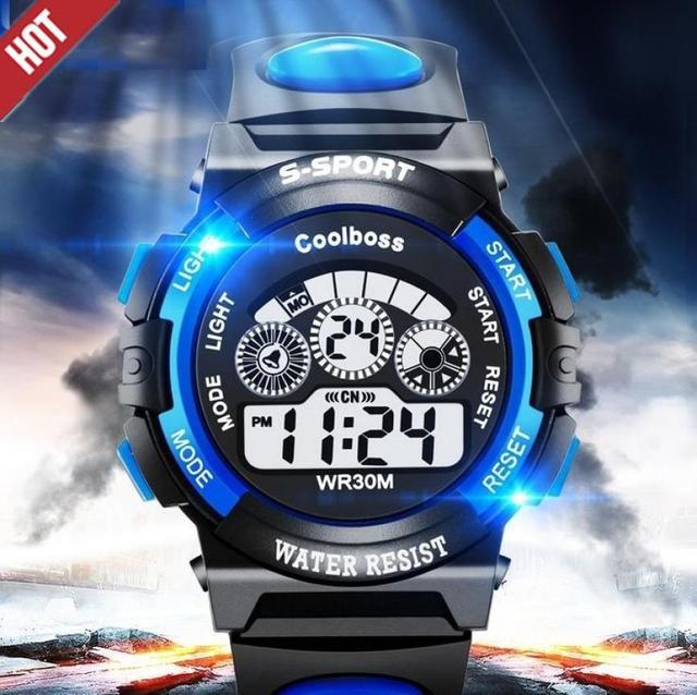 Honhx 2018 Children Watch Kids Boy Digital Quartz Date Fashion Waterproof Sports