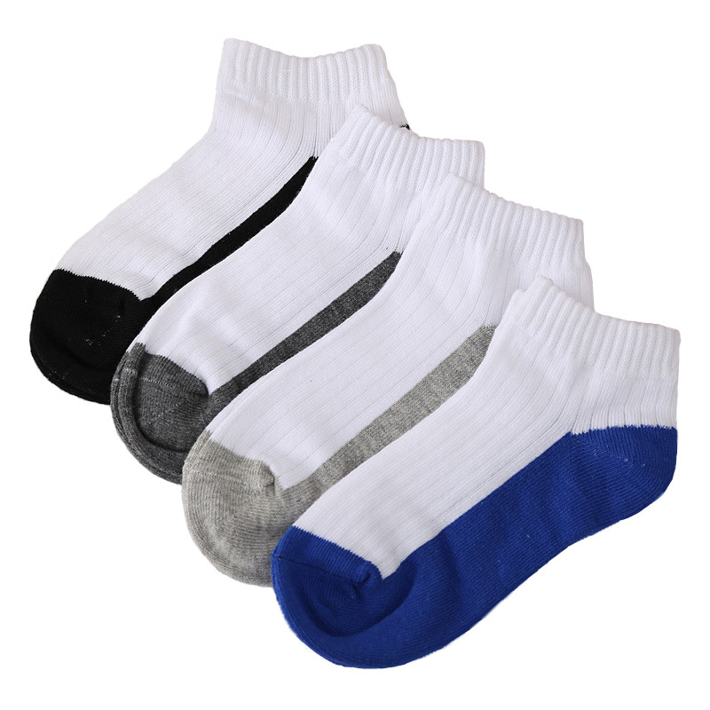 Kids Socks Boys Cotton Summer Baby Socks White Sport Socks for Kids Short Children Casual Meias School Pairs 2-12 Years Brand