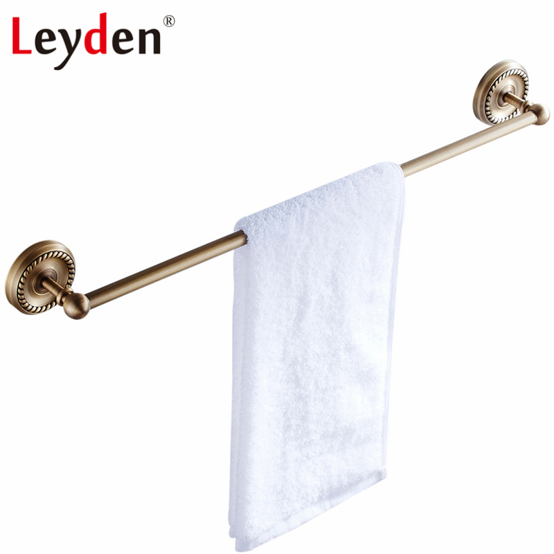 Leyden High Quality Antique Brass Single Towel Bar Toilet Towel Bar Rack Holder Wall Mount Towel Bar Hanger Bathroom Accessories wall mount artistic double towel bar antique brass bathroom good quality dual bar towel holder