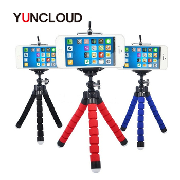 YUNCLOUD Mini Flexible Tripod Sponge Octopus With Phone Clip For iPhone Xiaomi Huawei Smartphone Gopro Camera Accessory Tripod