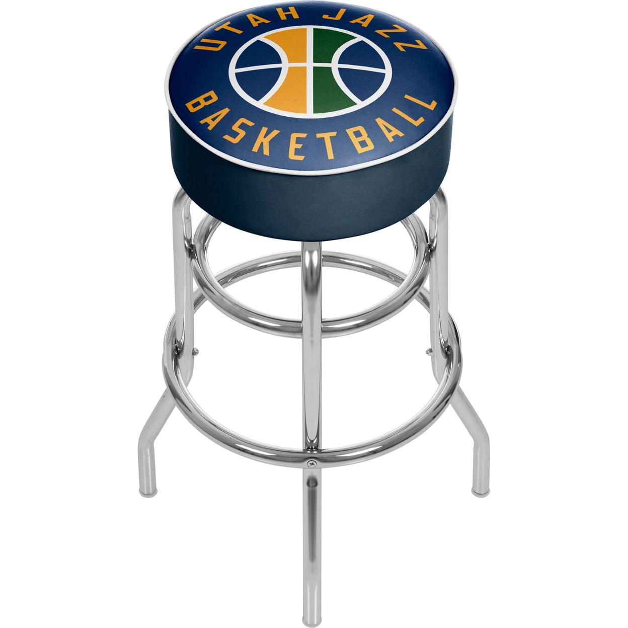 Utah Jazz NBA Padded Swivel Bar Stool 30 Inches High