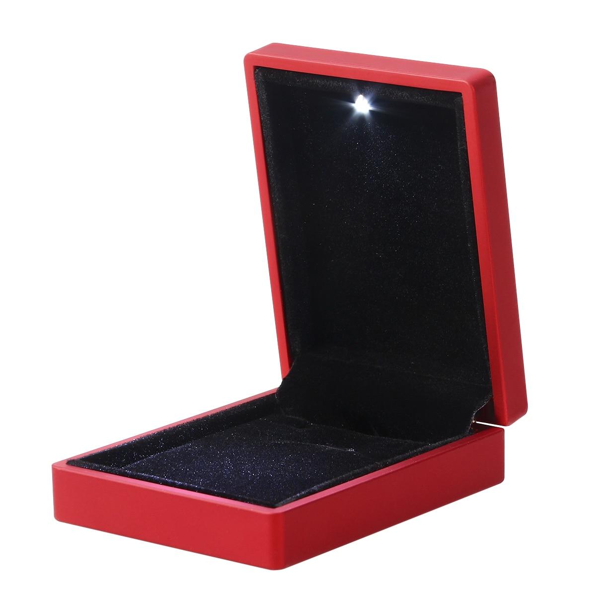 LED Lighted Jewelry Gift Box Lighting Pendant Box Holder