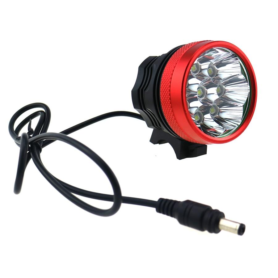 12000 Lumen 8T6 Bicycle Light Headlight 8x CREE XM-L T6 LED Helmet Bike Lamp Flashlight + 8.4V 18650 Battery Pack + Charger Plug