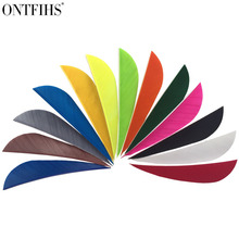 50 Pcs 2.5inch Parabolic Archery Fletches Feather Natural Turkey Feathers Arrow fletching For Hunting Long Bow 36 pcs ontfihs new 2 5inch archery fletches feather parabolic stripe plume turkey feathers arrow fletching for hunting shooting