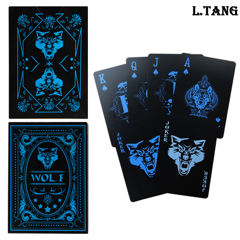 1 Deck Plastic Playing Cards Game Playing Card Gambling Bridge Poker WaterProof Gift L502 image