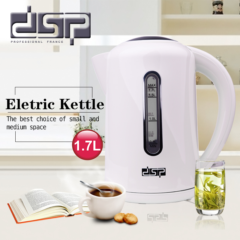 DSP Electric Kettle 1.7L Plastic Boil-dry And Overheart protection Teapot Insulation Household Appliances For Kitchen KK1112 philips brl130 satinshave advanced wet and dry electric shaver