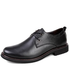 Hot Sale Dress Shoes Men's Business Shoes Classic Genuine Leather Flats Male Luxury Brand Men Oxford Shoes for Wedding