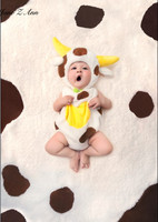 Jane Z Ann Baby Cow Plush Fotografia Animal Costume Toddler Infant Boys Girls Baby Photography Props
