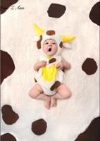 Jane Z Ann Baby Cow Plush Fotografia Animal Costume Toddler Infant Boys Girls Baby Photography Props