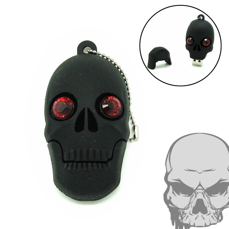 New Cartoon Skull Usb Flash Drive Black Head Pen Drive 32gb Pendrive 16gb 8gb 4gb Usb 2.0 Flash Memory Storage Usb Stick U Disk