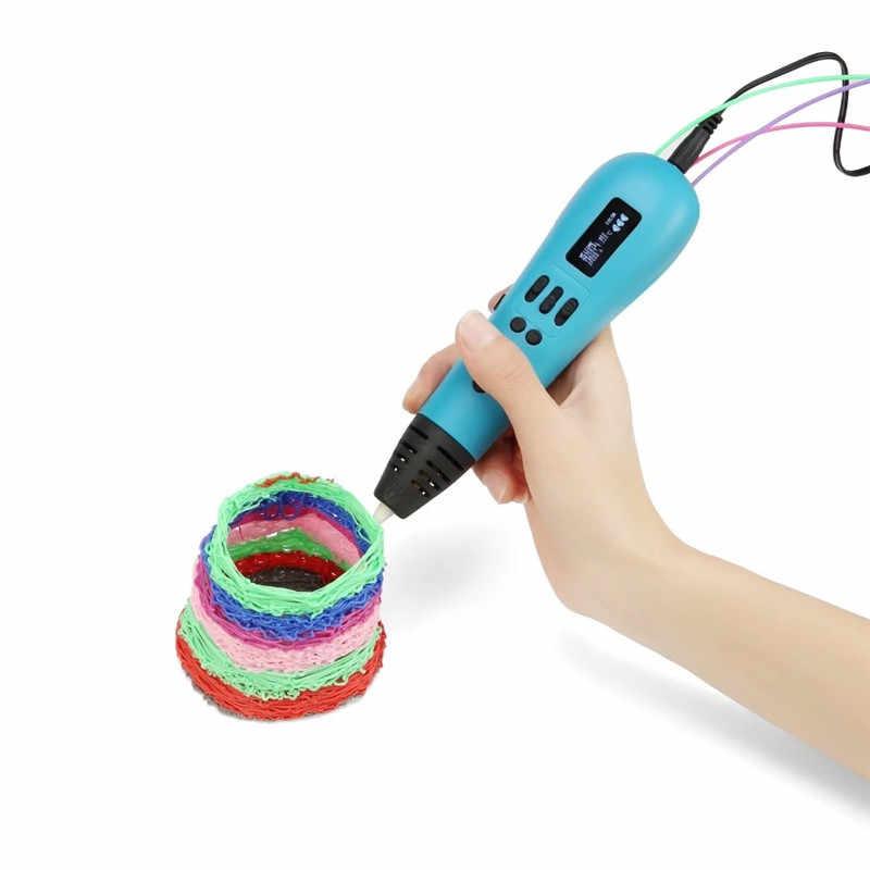 DEWANG OLED 3D ปากกา Scribble Multicolor ABS Filament 3D เครื่องพิมพ์ปากกาคริสต์มาสนำเสนอ 3D การพิมพ์ปากกา 3D ปากกาศิลปะและงานฝีมือ