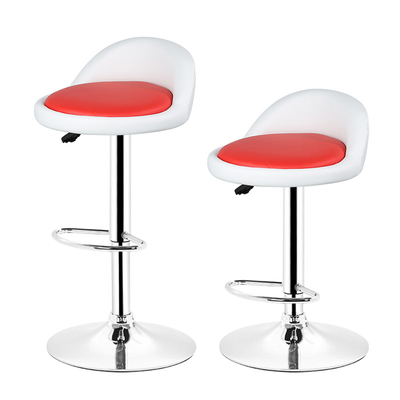 DOORSACCERY 2pcs Synthetic Leather Rotating Adjustable Height Bar Stool Chair Stainless Steel Stent FR Stock JSX