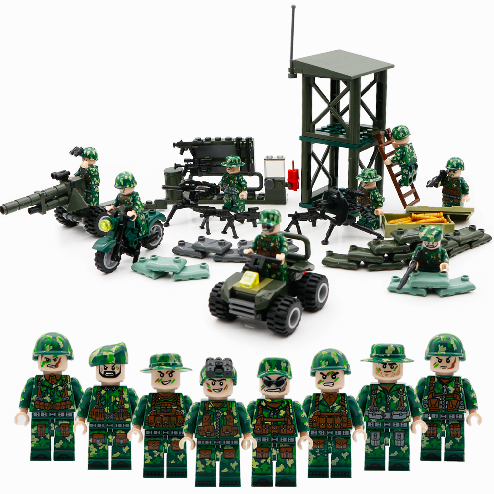20pcs Military Field Scene Accessories Packs For Building Blocks Figures Toys