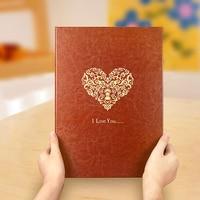 PU Photo Album Series Manual Paste Type Adhesive Type DIY Family Couple Business Album Gifts Handmade Travel DIY Album Scrapbook