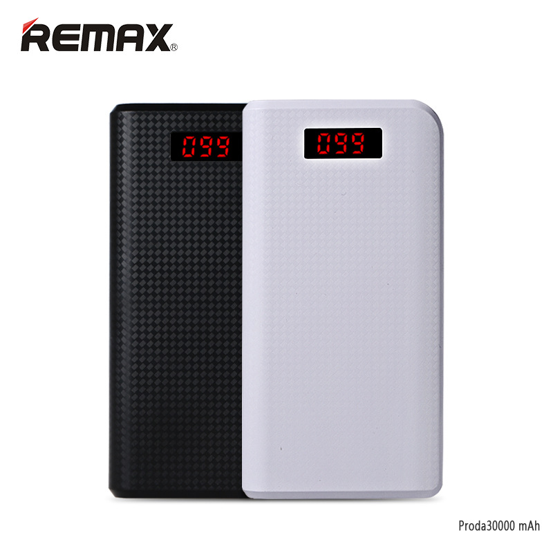 Remax Proda LED 30000mAh power bank 30000 mah pover bank USB portable external battery charging tablets xiomi powerbank baterias