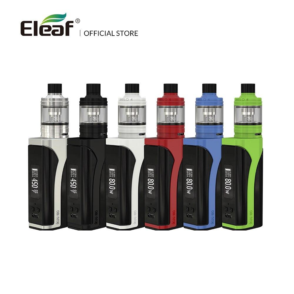 Originale Eleaf iKuu i80 con MELO 4 kit completo con 2 ml/4.5 ml E-liquido capacità 3000 mah Batteria 510 Filo EC2 Testa vape