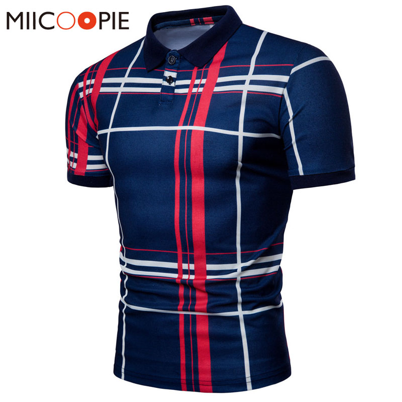 d84ebe76bf6af Men Plaid Polo Shirt 2018 Summer Luxury Breathable Classic Casual Tops  Short Sleeves Tee Shirt Brands