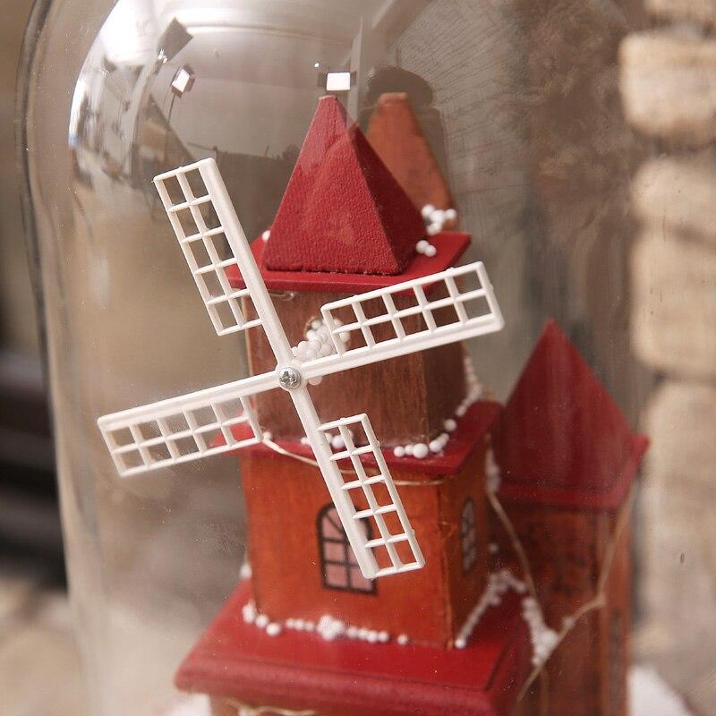 Venda quente mais novo 2019 presentes de natal com luzes de música flutuante cobertura de vidro de neve romântica véspera de natal pacote de presente correio - 5