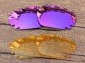 Плазмы Фиолетовый и Желтый Кристалл 2 Пар Замена Линзы Для Jawbone Вентилируемый Солнцезащитные Очки Кадров 100% UVA и UVB Защиты