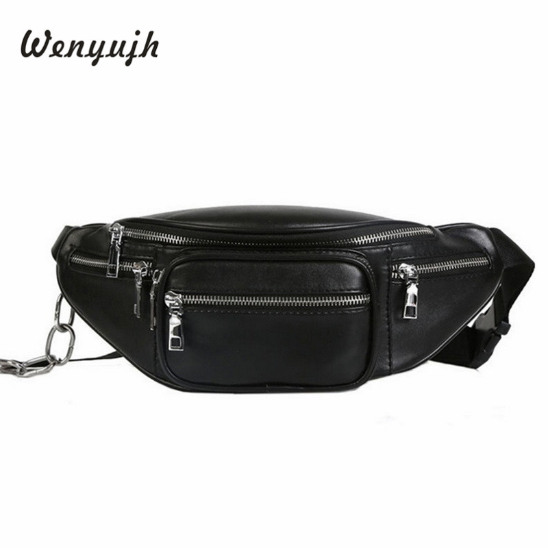 WENYUJH Fashion Waist Bag Women Men Unisex Leather Bags Fashion High-capacity Casual Fanny Pack Bag Belt Bag Pochete