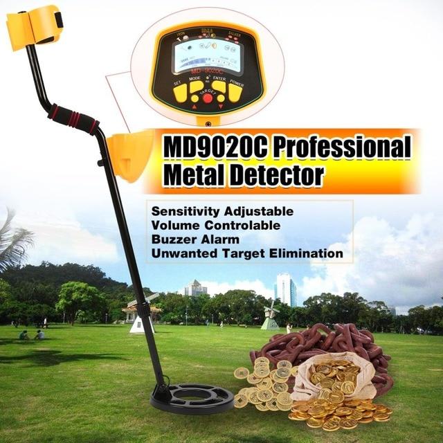 Détecteur de métaux souterrain livraison directe MD9020C professionnel Portable Portable chasseur de trésor or Digger Finder LCD affichage