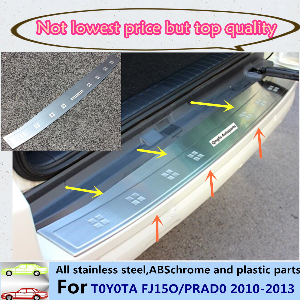 Car Stainless Steel inside/outside Rear Bumper Strip trim plate lamp frame threshold pedal for Toyota Prado 2010 2011 2012 2013 car parts bumper protector guard skid plate for toyota prado fj150 2010 2011 2012 2013