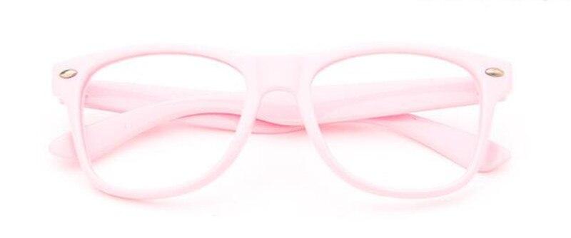 Винтажные детские оправы для очков для мальчиков и девочек, очки для близорукости Rx, детские очки без линз - Цвет оправы: Pink