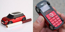 2015 Spanish Portuguese small mp3 car logo S1 model kids cute mini cell mobile phone H