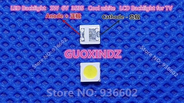 للتلفزيون LED شارب تطبيق LED الخلفية عالية الطاقة LED 1.2 واط 6 فولت 3535 3537 كول الأبيض LCD الخلفية للتلفزيون