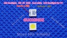 Para aplicación SHARP LED TV retroiluminación LED alta potencia LED 1,2 W 6V 3535 3537 blanco frío iluminación LCD trasera para TV