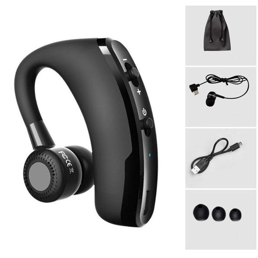 Afit V9 di Controllo Vocale Senza Fili di Musica di Bluetooth di Sport Handsfree del Trasduttore Auricolare Bluetooth Auricolare Cuffie A Cancellazione di Rumore Auricolare