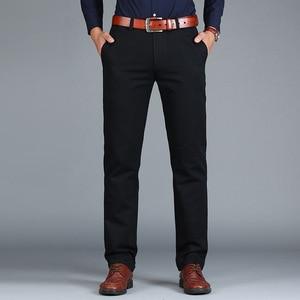 Image 5 - Vomint Pantalones rectos holgados para hombre, pantalón informal, de algodón, a la moda, color verde marrón y gris, 2019