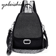 купить Women's Embroidered Backpack Women's Sequins Travel Backpack Women's Diamond Studded Backpack Mochilas Shoulder Bags School bag по цене 1468.06 рублей