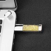 2pcs Orange Color USB2.0 Crystal U Disk Waterproof 32G USB Portable Pen Drive Mini USB Stick Flash Drive For Computer Laptop