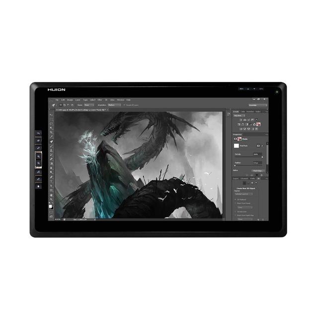 """Huion nueva GT-185 TFT de 18.4 """" en Diagonal 8 personalizable expreso teclas interactivo gráfica Pen Tablet visualización del Monitor con guante negro"""
