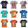 100% de Algodão Verão Meninos T Camisas de Manga Curta Crianças Roupa Dos Miúdos T-shirt Do Bebê Outerwear Infantil Tee Shirts Tops