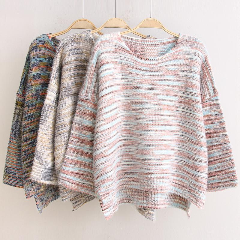 Batwing Jumper Knitting Pattern Free : Aliexpress.com : Buy Casual Knitted Mohair Sweater Women O neck Batwing Sleev...