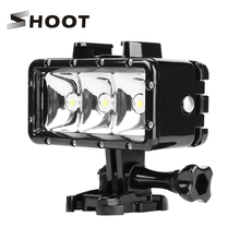 SHOOT 30M Waterproof Underwater LED Flash Light Fill Lamp Diving Video Lights for GoPro Hero 8 7 5 Black Xiaomi Yi 4K Sjcam Eken