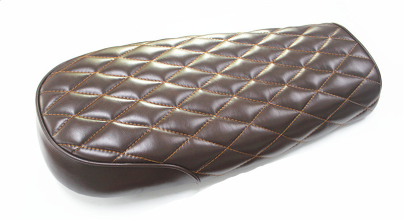530MM Vintage motorcycle Universal seat Cafe Racer Seat Brown Stripe Motorcycle Cushion For CG125