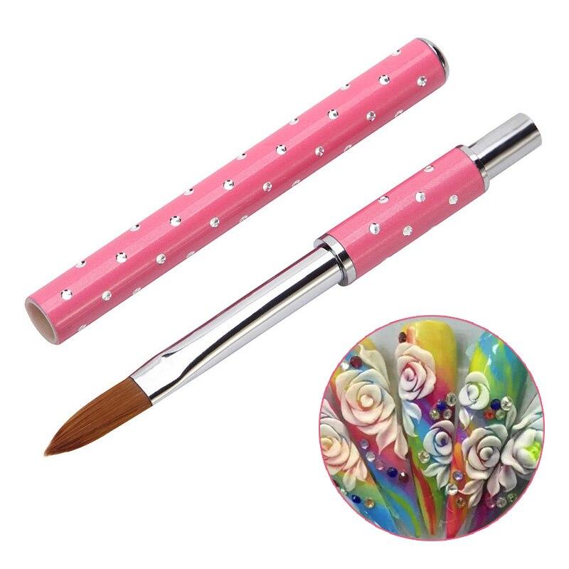 Art des ongles Kolinsky Sable acrylique pinceau stylo UV Gel vernis peinture à la main dessin sculpture stylo manucure outils Nail Art outils
